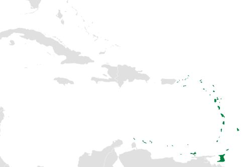 Map of the Caribbean with the Lesser Antilles highlighted in green. Image: Uniongreen113