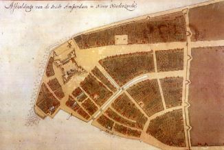 Earliest known plan of New Amsterdam. Image: New York Public Library