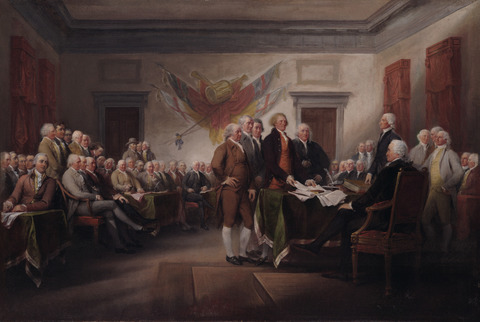 The Declaration of Independence. Image: John Trumbull; Yale University Art Gallery